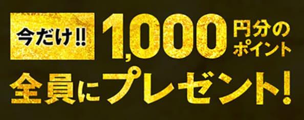 1,000円分のポイントプレゼント