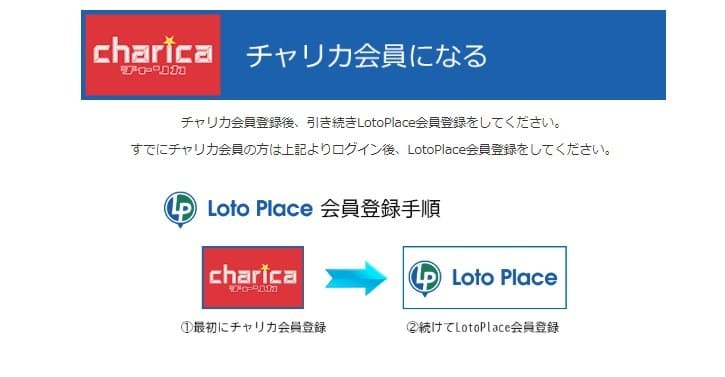 Loto Place 会員登録