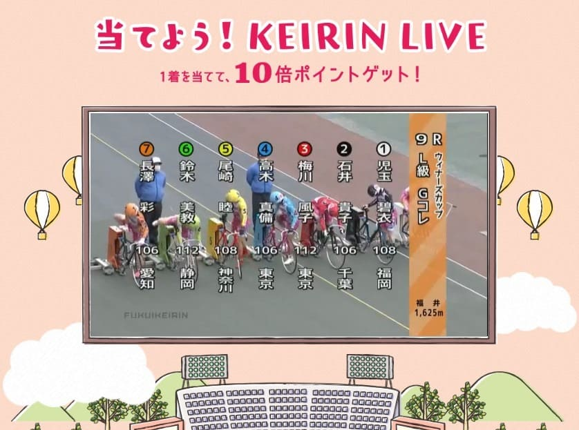けいりんマルシェ 当てよう!KEIRIN LIVE