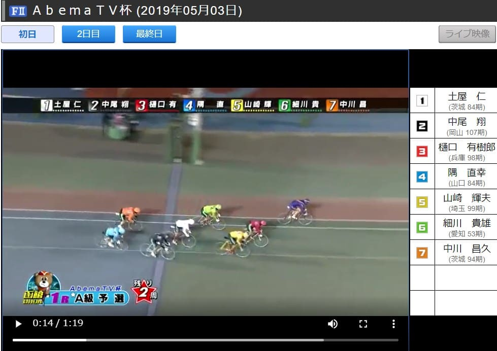 競輪ステーション レース結果動画