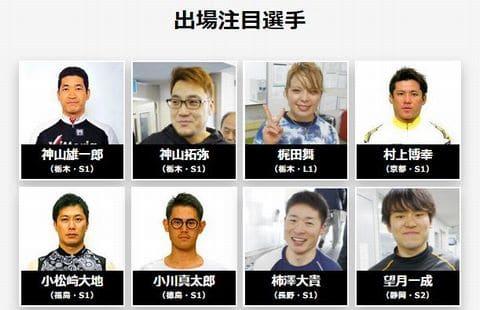 国際自転車トラック競技支援競輪2021(宇都宮競輪G3)の出場選手