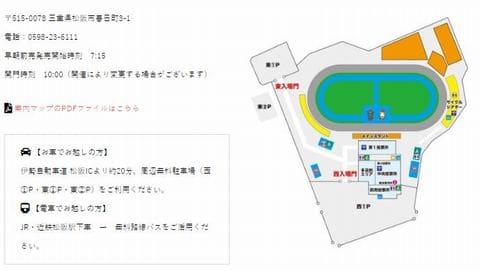 松阪競輪場への自動車でのアクセス