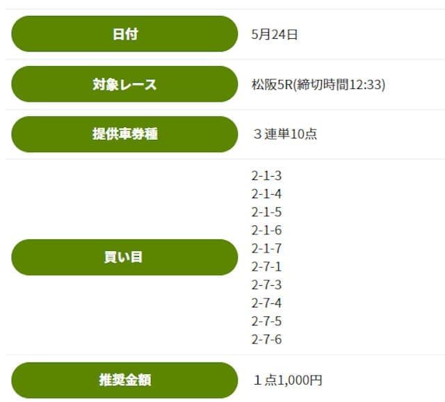 松坂5レース
